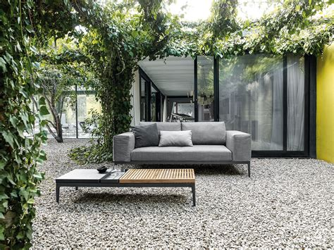 grid sofa grid outdoor lounge collection  gloster