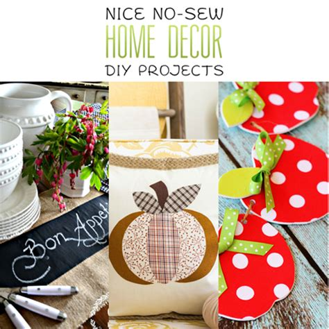 sewing ideas for home decorating nice no sew home decor diy projects the cottage market