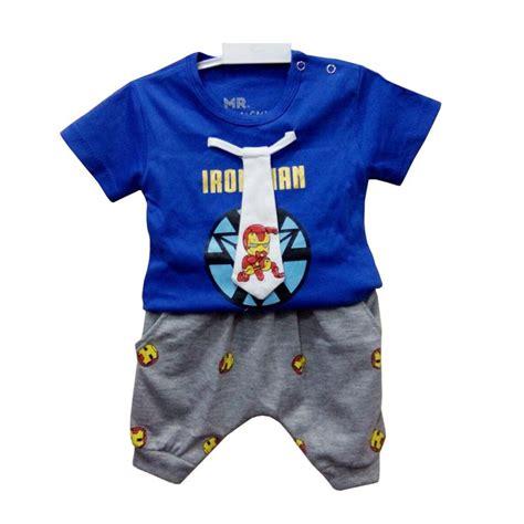 Terbatas Setelan Baju Anak Chiloci Prime Laris Jual Stb Im012 Setelan Baju Bayi Laki Laki Biru