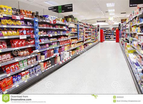 Supermarket Aisle Empty Editorial Photography   Image