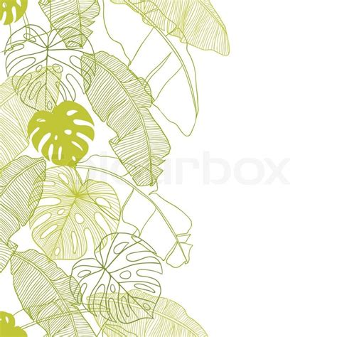 leaf pattern illustrator vector illustration leaves of palm tree seamless pattern