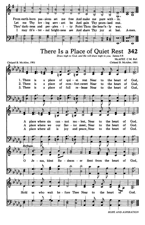 A Place Hymn Sheet Hymns For The Living Church 341 Lord Jesus Think On Me Hymnary Org