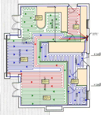layout for underfloor heating underfloor heating design