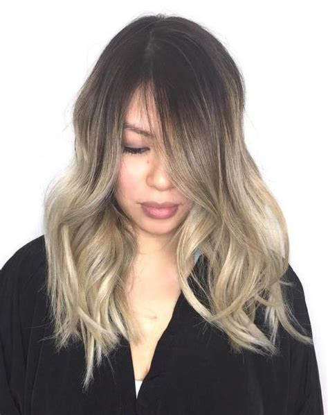 imagenes mechas blancas mechas platinadas en cabello moreno moda top online