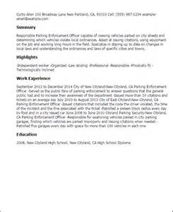 Enforcement Cover Letter Template Professional Parking Enforcement Officer Templates To Showcase Your Talent Myperfectresume