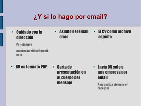 Modelo Carta Presentacion Curriculum Por Email Busqueda Empleo En El 225 Mbito Social