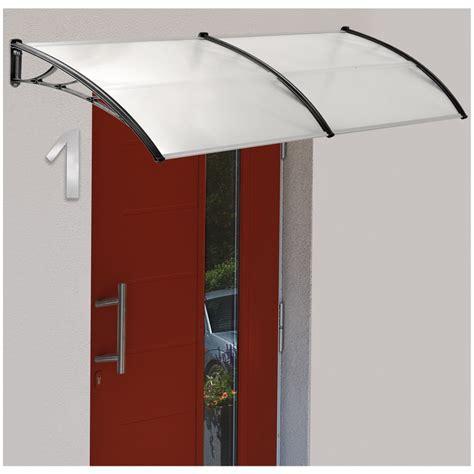 marquise auvent de porte avec panneaux polycarbonate 90 x