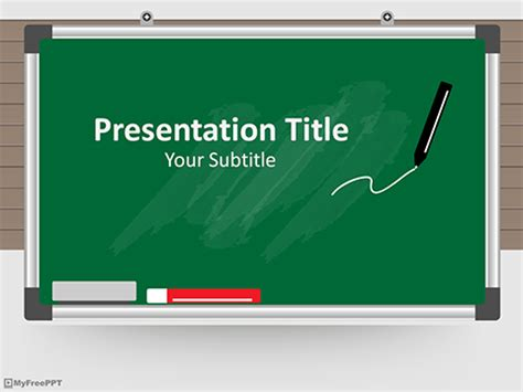 Free Green Board Powerpoint Template Download Free Powerpoint Ppt Classroom Powerpoint Templates
