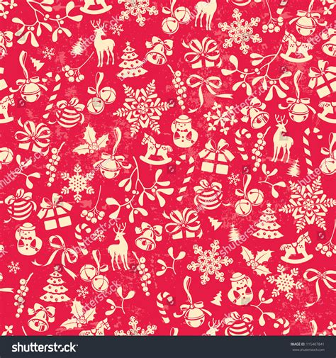 wrapping paper pattern vector christmas background seamless tiling great choice stock