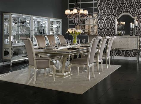 kanes furniture dining room sets hollywood swank large dining table by aico aico dining