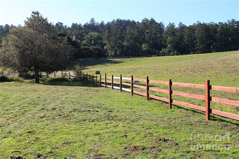 Landscape Photography Bay Area Fence And Landscape At Point Reyes California 7d9812