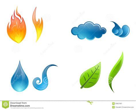 imagenes figurativas elementos cuatro elementos de la naturaleza imagen de archivo