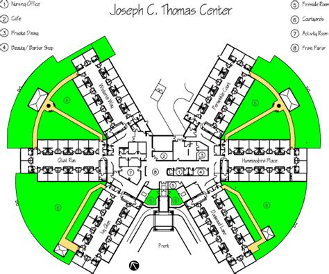 rehabilitation center floor plan joseph c thomas center richfield assisted living