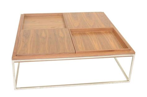 Designer Wooden Coffee Tables Coffee Table With Stainless Steel Base Tacoma Washington