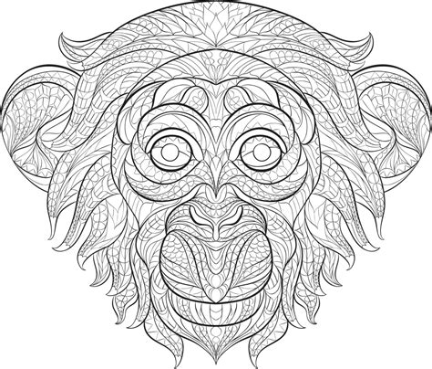 coloring books for adults popular get this monkey coloring pages for adults 60731