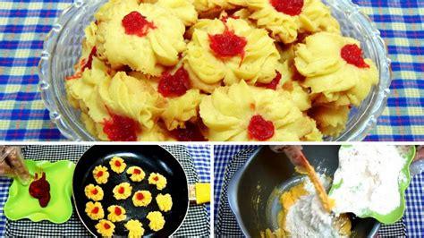 Teflon Kue cara membuat kue semprit menggunakan teflon tanpa mixer