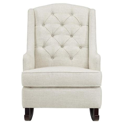 tufted rocking chair white baby relax zoe tufted rocking chair white target