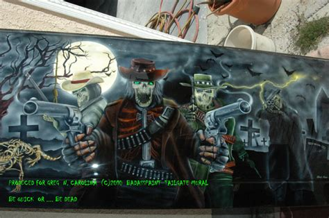 custom murals custom airbrush paint murals metal panels bad ass paint