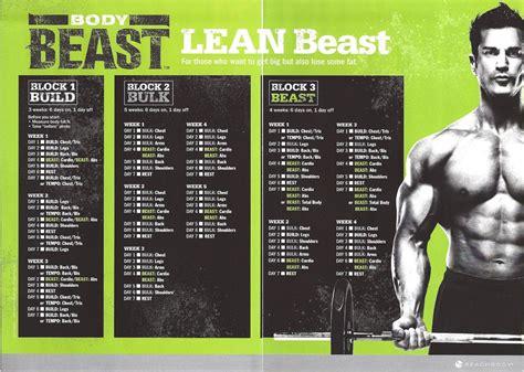 Beast Workout Calendar