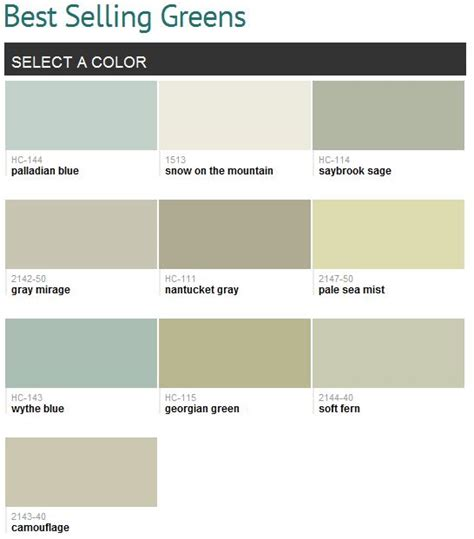 Benjamin Moore Best Greens | benjamin moore green and palladian blue on pinterest