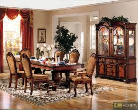 Dining Room End Chairs 7 Pc High End Cherry Finish Dining Room Set Table And