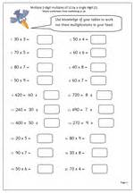year 4 maths worksheet multiples of 10 maths blog