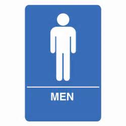 Mens Bathroom Sign Palmer Fixture Is1001 1 B Ada Compliant Men Restroom Sign