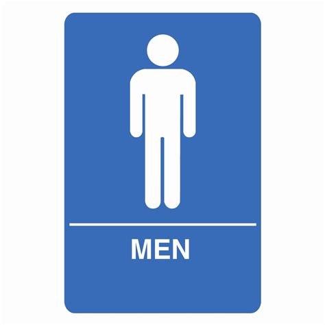 Palmer Fixture Is1001 1 B Ada Compliant Men Restroom Sign Atg Stores