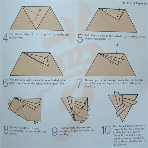 Types Of Paper Folds - types of folds origami triangular pictures to pin on