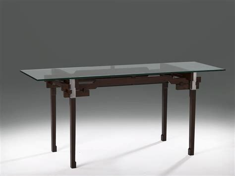 Wood And Glass Desk by Custom Modern Glass And Wood Desk By Wilson Furniture Custommade