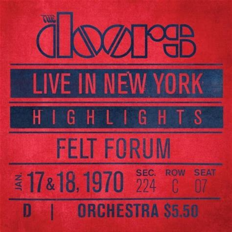 Live In New York cd review the doors quot live in new york quot