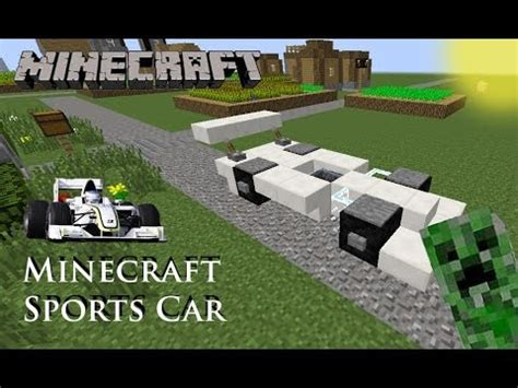 minecraft sports car minecraft sports car tutorial youtube
