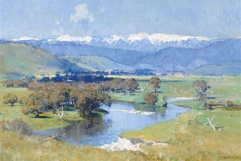 Landscape Artists Western Australia Arthur Streetson S The Murray And The Mountain 1930 Abc