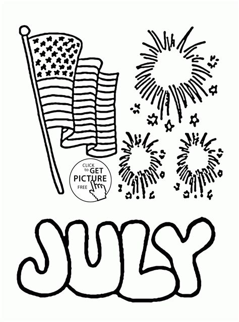 Coloring Page 4th Of July by Shopkins Coloring Pges 4th July Printable Shopkins