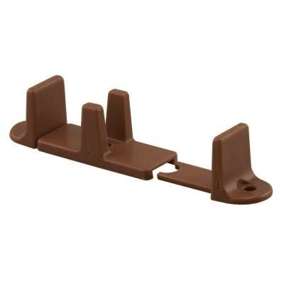 Sliding Closet Door Guides Floor Prime Line 1 In H Bi Pass Brown Door Guide N 7384 The Home Depot