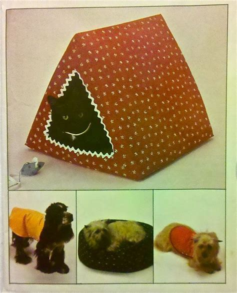 pattern for dog house vintage doghouse bed sewing pattern dog cathouse pets