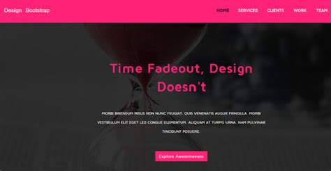 bootstrap themes free pink pink free responsive business landing page graygrids