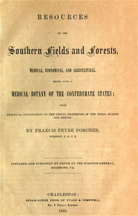 resources of the southern fields and forests economical and agricultural classic reprint books francis peyre porcher 1825 1895 resources of the