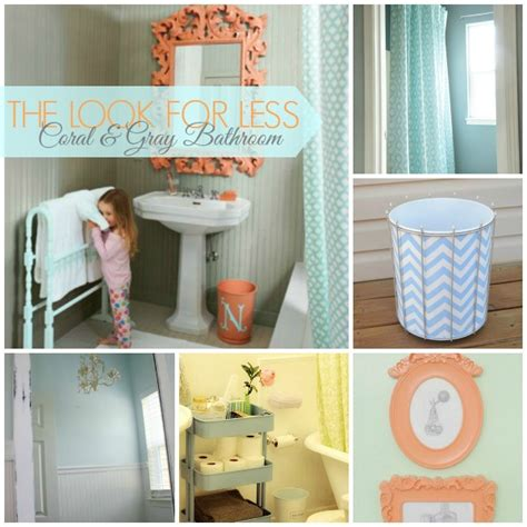 Beach Bathroom Decorating Ideas 5 ways to get this look coral and gray bathroom ideas