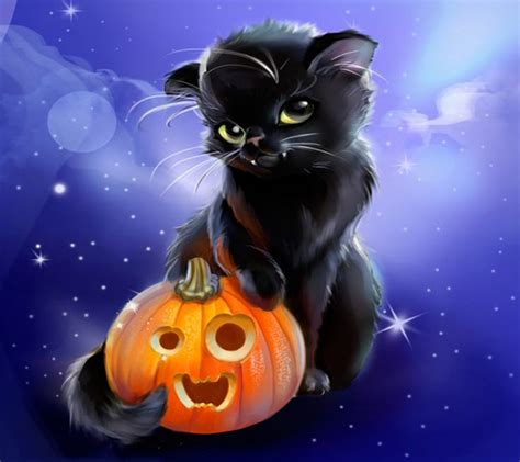 cute cat wallpaper zedge download halloween kitty wallpapers to your cell phone