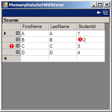 tutorial vb net dataset datagrid with error mark datagrid 171 database ado net