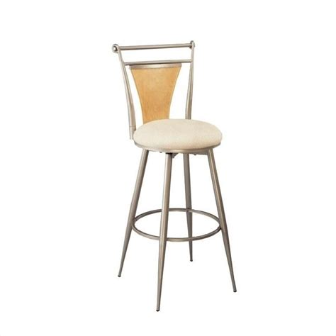 24 quot swivel metal counter stool in chagne 4183 826