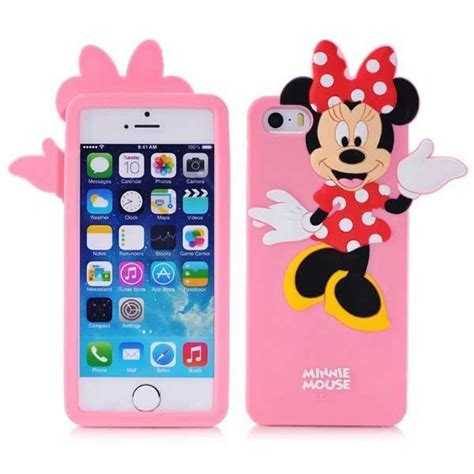 Hv8406 Iphone 5 5s Minnie Mouse Disney Silicone Rubb Kode Bis8460 3d minnie mouse silicone for iphone 5 5s