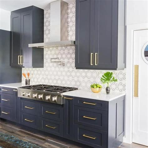 Elegant Slate Blue Kitchen Cabinets   GL Kitchen Design