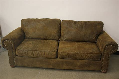 brown suede sofa hillcraft brown suede sofa
