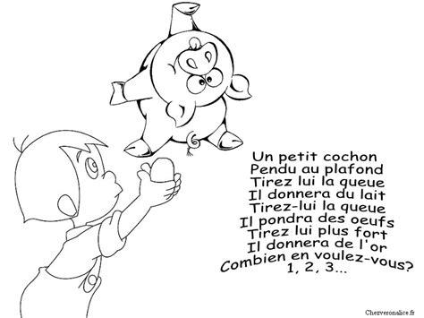 Trois Petit Cochons Pendu Au Plafond by Coloriages Comptines