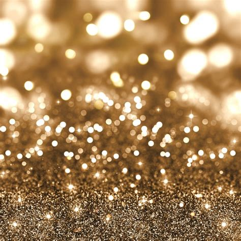 golden christmas glitter background with stars and bokeh