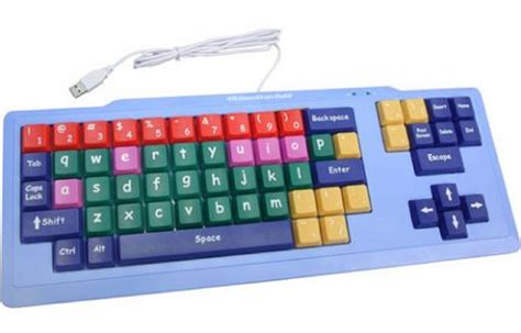 color coded keyboard brightly color coded large keyboard
