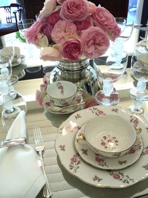 Lunch Table Setting A Rosy Luncheon Knitionary