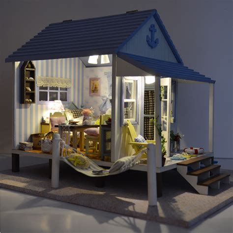 House Handmade - assemble miniature dollhouse villa diy doll house handmade
